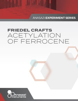 Banner showing cover page of Friedel Crafts, Acetylation of Ferrocene. Part of the Anasazi Experiment Series.