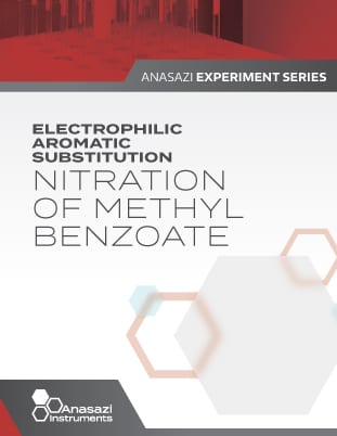 Banner cover page of Electrophilic Aromatic Substitution, Nitration of Methyl Benoate. Part of the Anasazi Experiment Series.